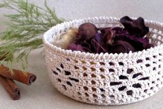 RESERVED Crocheted Intricate Potpourri Bowl - Made to Order
