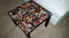 Deadpool Comic Book Side Table by BanzaiPop on Etsy
