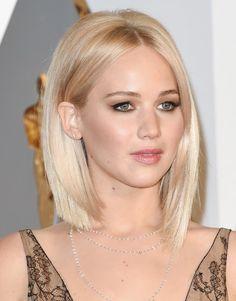 Jennifer Lawrence   light blonde   bob
