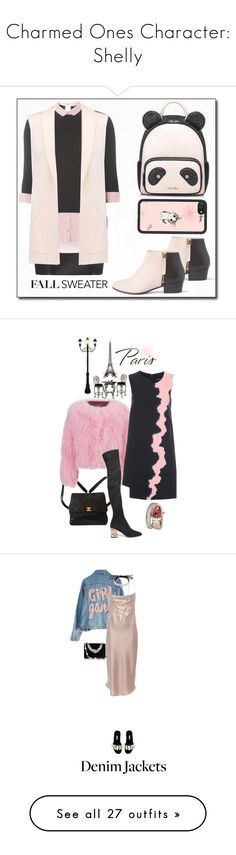 """""""Charmed Ones Character: Shelly"""" by lucais-treeman ❤ liked on Polyvore featuring Balmain, Nine to Five, Dorothy Perkins, Rebecca Minkoff, Chanel, Charlotte Simone, Burberry, Versace, Bulgari and High Heels Suicide"""