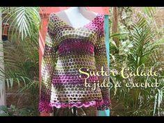 Sueter Calado tejido a Crochet/Ganchillo - YouTube