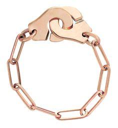 """""""Bague chaîne Menottes"""" - Dinh Van - Coloris : or rose OU argent - Lien : http://www.dinhvan.com/fr_fr/collections/menottes-dinh-van/bague-chaine-menottes-dinh-van-r7-599.html - Prix : 420€"""