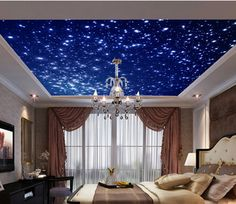 Blue Sky Ceiling A Wall Paper Wall Print Decal Wall Deco Indoor wall Mural Sky Ceiling, Ceiling Murals, Wall Murals, Wallpaper World, Of Wallpaper, Galaxia Wallpaper, Small Space Interior Design, Interior Design Living Room, Dream Rooms