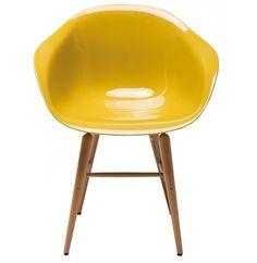 Sedia Forum Wood Giallo Senape 78666 Kare Design