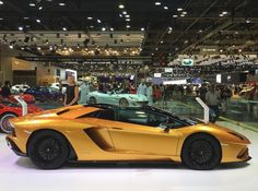 Lamborghini Aventador S Roadster painted in Oro Adonis  Photo taken by: @carsoftheworld.photos on Instagram