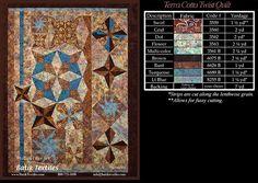 Patterns by Cheryl - Beautiful Terra Cotta Twist Quilt