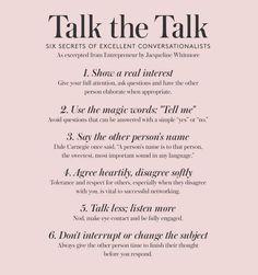 Secrets of excellent conversationalists