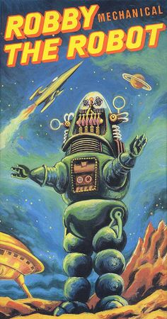 Robby the Mechanical Robot from Forbidden Planet. Artificial Intelligence is often seen in Science Fiction dealing with off world exploration as a supplement to human characteristics.