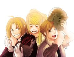 Ed, Winry and Al