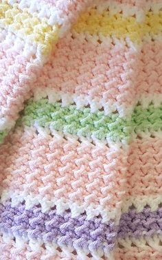 Leilani Baby Blanket :) Pattern: http://www.ravelry.com/patterns/library/leilani-baby-blanket ...paid pattern @ Ravelry. This is a digital download for a crochet pattern.