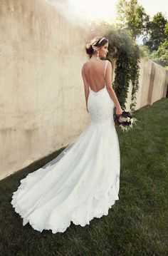 a stunning, long train on a gorgeous wedding dress. #wedding #bridal #gown #dress #train