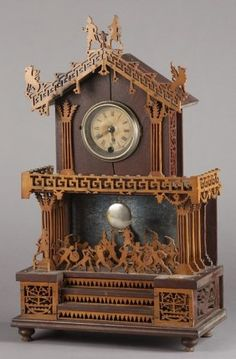 Fretwork Clock...very much like what my dad made. He did dozens of them and gave them all away.