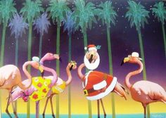 Flamingo in Santa Suit Tropical Beach Christmas Holiday Boxed Greeting Cards by Sugartree. $9.88. Flamingo in Santa Suit Tropical Beach Christmas Holiday Boxed Greeting Cards. Save 24%!