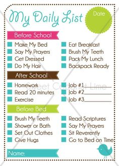check check done checklist for kids printable template kids