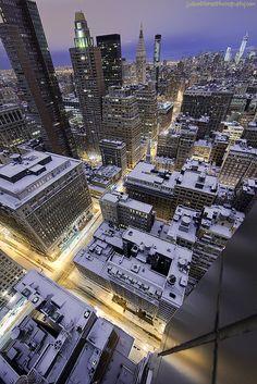 NYC. Manhattan. Morning after Nemo, February 9, 2013  // Jason Pierce viaFlickr