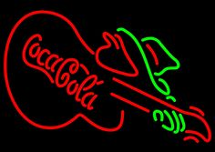 Coca Cola With Guitar Neon Sign