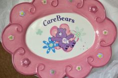 """Care Bears 9"""" Ceramic Plate -  New Condition (2005)"""