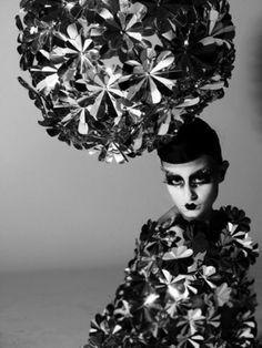 Paper Flower Hat - sculptural millinery; paper couture; wearable art // Zoe Bradley