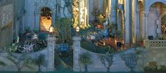 fairy-tale-themed garden from Colleen Moore's dollhouse