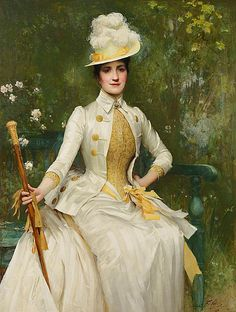 Sir Samuel Luke Fildes - Portrait of Mrs Lockett Agnew, 1887-88