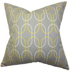 The Pillow Collection Ickitt Geometric Pillow | AllModern