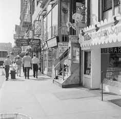 Eighth Street, New York, the arterial street of Greenwich Village, 1955. (Getty Images)
