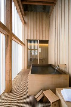 Interior dreams Ginzan Onsen Fujiya-Kengu Kuma / Ritualbad ♥ Hair Loss and Supplements Copyright 200 Japanese Architecture, Interior Architecture, Interior And Exterior, Interior Design, Design Interiors, Piscina Interior, Japanese Bathroom, Japanese House, Japanese Sauna