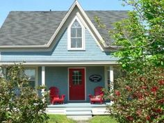 Love this beautiful vacation rental in Nova Scotia. Willow Cove Cottage is just down the street from Carters Beach.