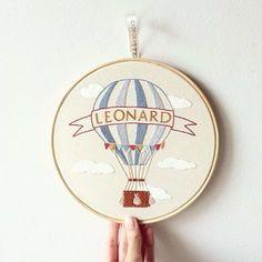 Um balão para Leonard {one ballon to leonard} ☁️ #maternity #clubedobordado #exclusive