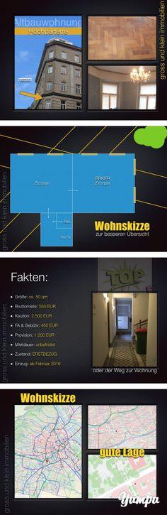 Erkerzimmer mit Parkblick ERSTBEZUG, Unbefristet : 1120 Wien - Magazine with 9 pages: Erkerzimmer mit Parkblick ERSTBEZUG, Unbefristet   Da kommt richtig Freude auf!   Stimmige und schöne Wohnung!    Die Wohnung wird derzeit richtig schön saniert! Neue Heizung, neue Elektrik, neues Badzimmer, neue Küche - einfach - Komplettsanierung! Herz was willst du mehr!     Die Aufteilung offeriert uns   Vorraum Badezimmer mit Dusche Toilette und zwei (2) ganz grossartige hintereinander liegende Zimmer…