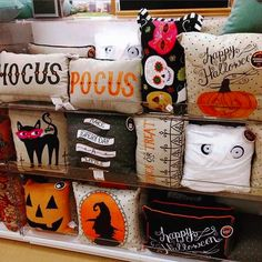 Cute halloween pillows...not sure where they are from because the link takes you to tumblr.