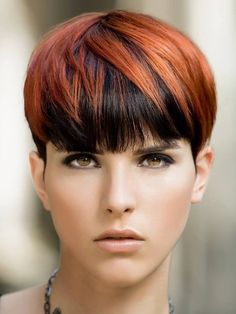 Pixie Cut With Bangs, Short Hair With Bangs, Short Hair Cuts, Short Hair Styles, Short Pixie Haircuts, Short Hairstyles For Women, Cool Hairstyles, Wedge Hairstyles, Haircut And Color