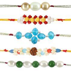 Combo of 5 Rakhis | Pearl Rakhi | Golden Rakhi with red stones  #rakshabandhan #jewellery #rakhigifts #rakhis #brother