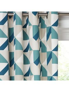 Buy John Lewis & Partners Maja Pair Lined Eyelet Curtains, Citrine / Grey, x Drop from our Ready Made Curtains & Voiles range at John Lewis & Partners. Green Curtains, Retro Design, Blue Colour Palette, Types Of Curtains, Printed Shower Curtain, Home Decor, Curtains, Curtains Width, Curtain Poles