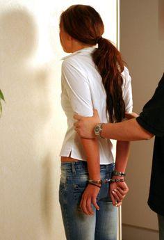 Next door woman in an arrest game.