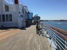 Sun deck of the Quee