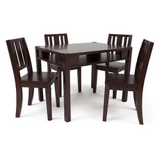 """Solutions by Kids R Us Storage Table and 4 Chairs - Espresso - Solutions by Kids 'R' Us  - Babies""""R""""Us"""