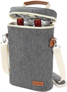 Amazon.com | ZORMY 2 bottle insulated wine tote bag, Wine Carrier Travel Padded Cooler Bag with Shoulder Strap & Corkscrew Opener, Perfect Wine Lover's Gift, Great for Picnics and Outdoor Entertaining Stripe: Bar Tools & Drinkware Wine Tote Bag, Wine Carrier, Host Gifts, Gifts For Wine Lovers, Bottle Stoppers, Leather Handle, Shoulder Strap, Bar Tools, Outdoor Entertaining