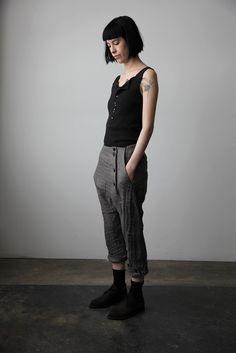 Trousers with Buttoned Hem
