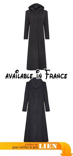 Manteau long creme femme