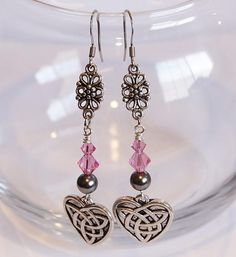 Celtic Heart with Swarovski Pearls and Crystals