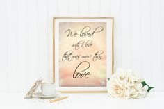"""Printable art, """"We loved with a love that was more than love"""", Edgar Allan Poe quote, digital art, wall art, instant download art, printable by GraceandJules on Etsy"""