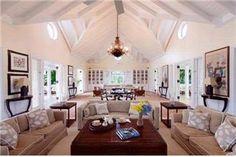 high ceiling interior