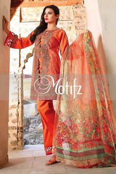 Motifz Summer Embroidered Lawn Dresses Collection 2016-