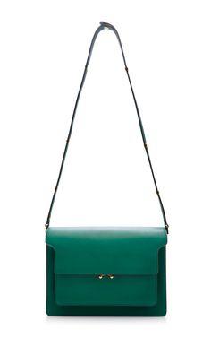 Trunk Leather Shoulder Bag by Marni