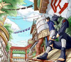 <3 Kakashi & Sasuke (Team Kakashi / Team 7) - by kalichan88, DeviantArt