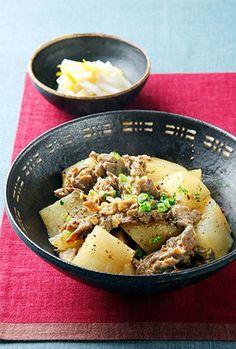 Braised daikon radish and beef