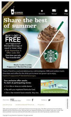 BOGO Starbucks Frappucino- Today Only!