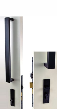 Nidus Roller Mortice Combo Set With Pull Handle Find This Pin And More On Matte Black Door Hardware