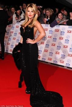 Hollywood glamour: TOWIE's Sam Faiers goes all out in a floor-length, black gown at the National Television Awards